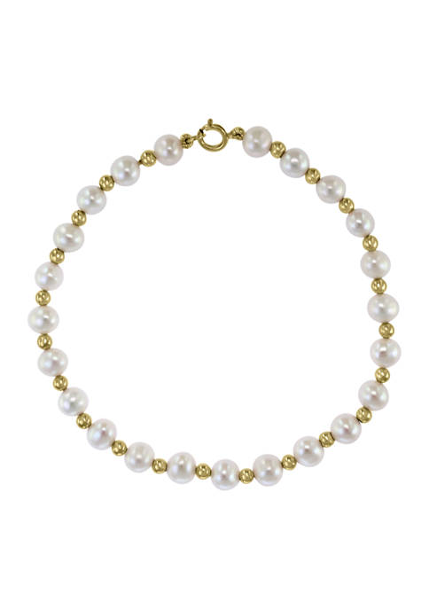 Effy® 14K Yellow Gold Freshwater Pearl and Gold