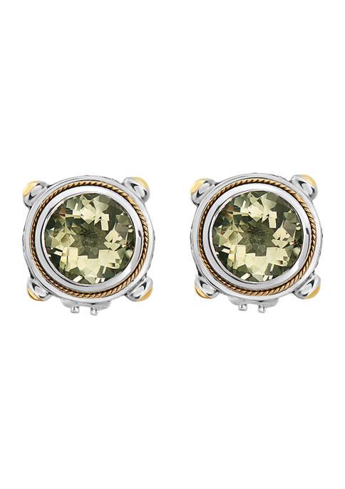 Effy® 7.1 ct. t.w. Green Amethyst Earrings in