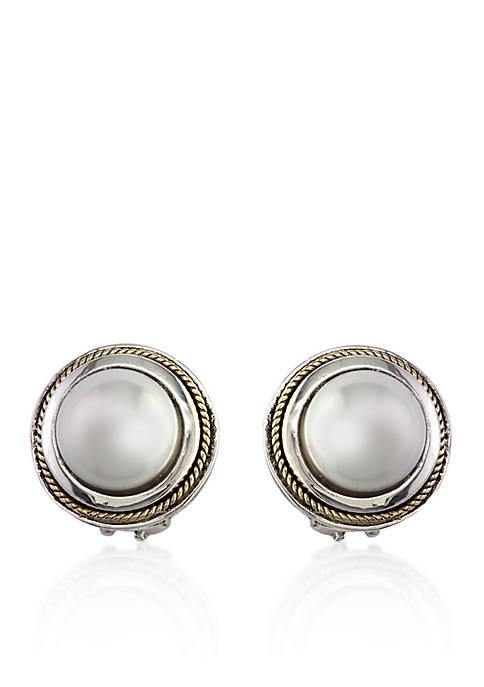 Freshwater Pearl Stud Earrings in Sterling Silver