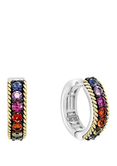 Effy® 1.15 ct. t.w. Multi Sapphire Earrings in