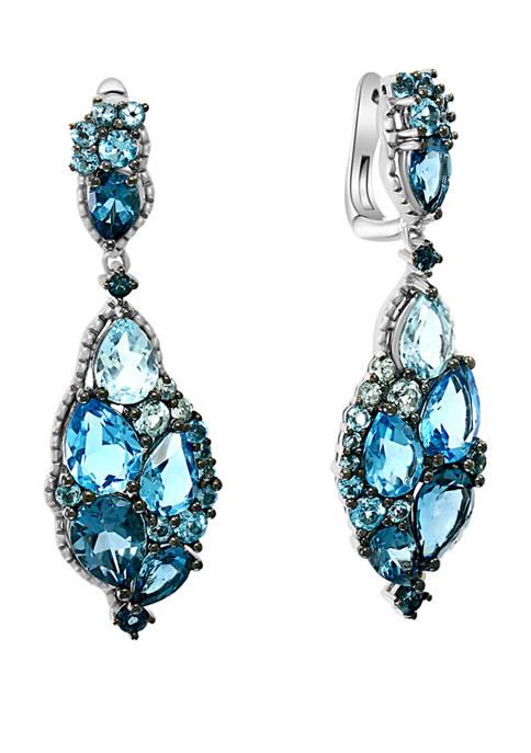 11.84 ct. t.w. Blue Topaz Earrings in Sterling Silver