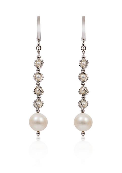 Effy® Round Freshwater Pearl Drop Earrings in Sterling