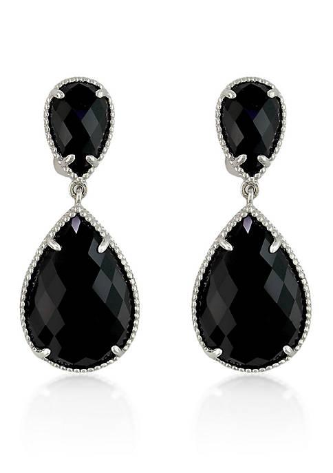 Effy® Onyx Drop Earrings in Sterling Silver
