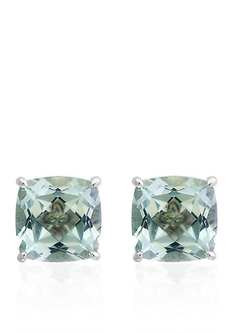 Effy® Green Amethyst Stud Earrings in Sterling Silver