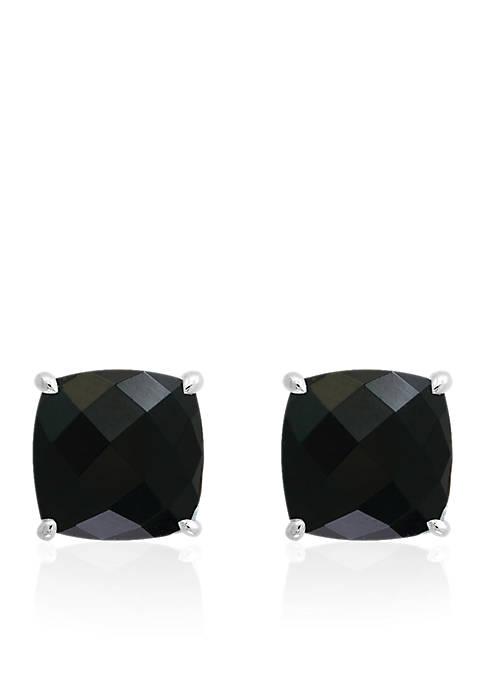 Effy® Onyx Stud Earrings in Sterling Silver