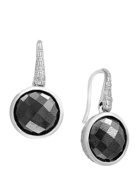 15.5 ct. t.w. Hematite Earrings in Sterling Silver