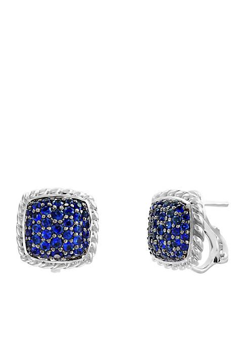 1.60 ct. t.w. Sapphire Earrings in Sterling Silver