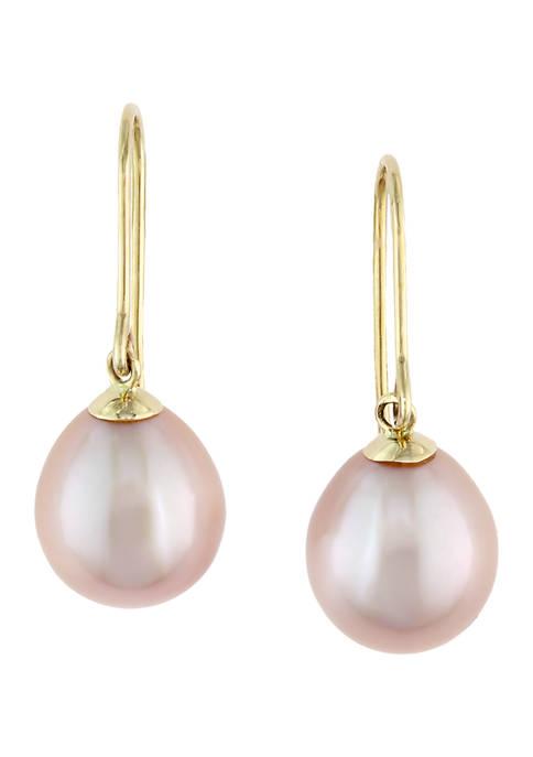 Freshwater Pearl Earrings in 14k Yellow Gold
