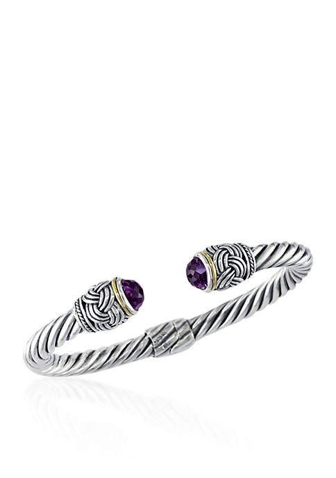 Effy® Amethyst Bangle in Sterling Silver and 18K