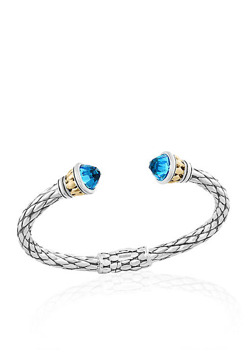 Effy® Blue Topaz Hinged Cuff Bracelet in Sterling