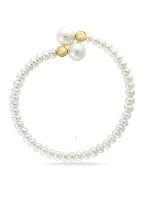 Effy® 14K Yellow Gold Freshwater Pearl Bypass Wrap