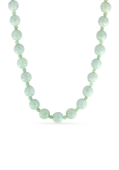 Effy® 14K Yellow Gold Natural Jade Beaded Necklace