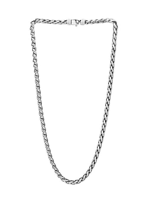 Mens 22 Inch Chain Necklace in Sterling Silver