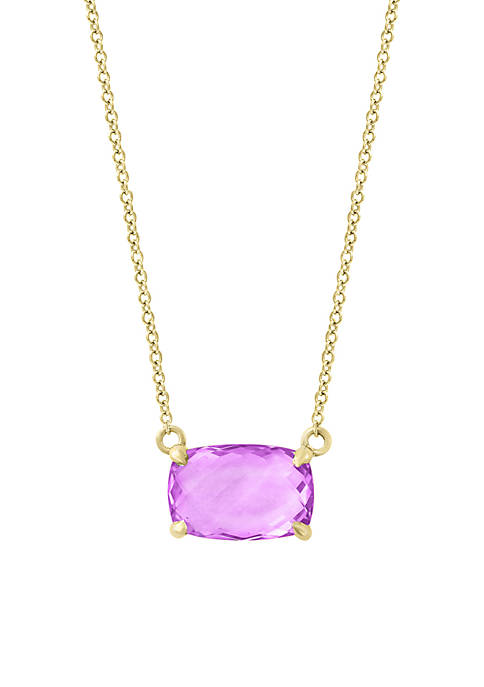 Effy® 14k Yellow Gold Amethyst Necklace