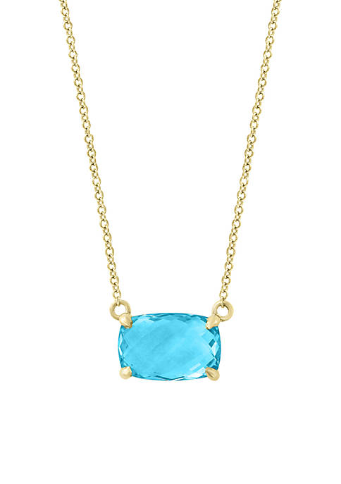 Effy® 14k Yellow Gold Blue Topaz Necklace