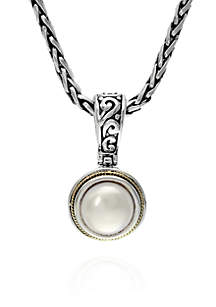 Round Freshwater Pearl Necklace in Sterling Silver