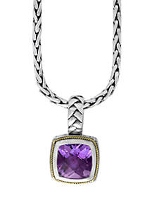 Effy® Amethyst Pendant in Sterling Silver/18k Yellow Gold