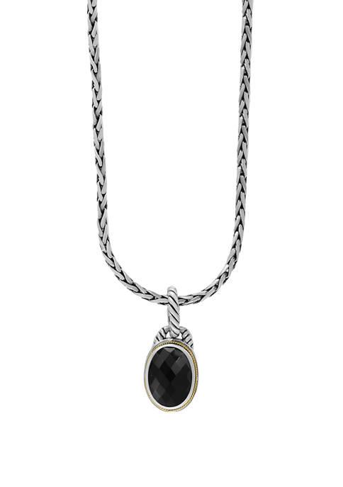 Effy® 5.7 ct. t.w. Onyx Pendant Necklace in