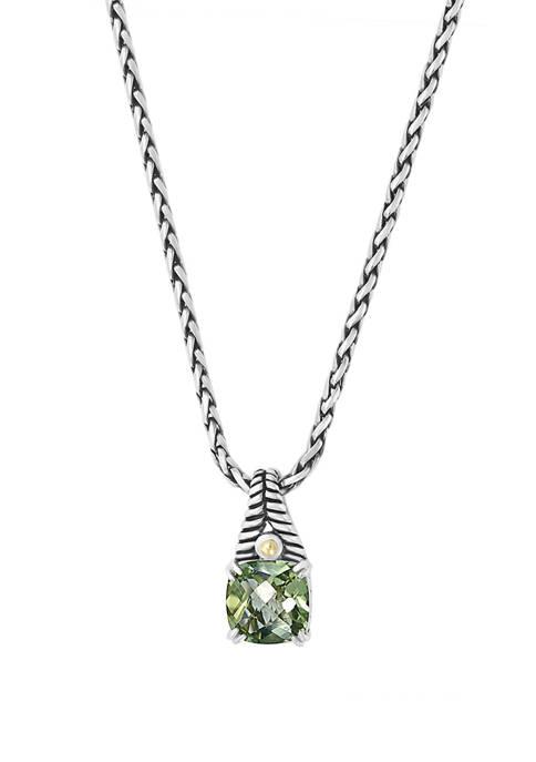 Effy® 6 ct. t.w. Green Amethyst Pendant Necklace