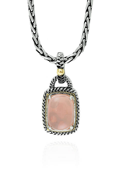 Effy® Rose Quartz Necklace in Sterling Silver