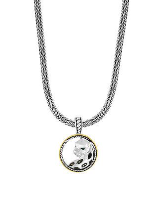 622cfb012 Effy® Tsavorite Signature 1/8 ct. t.w. Black Diamond Pendant in Sterling ...
