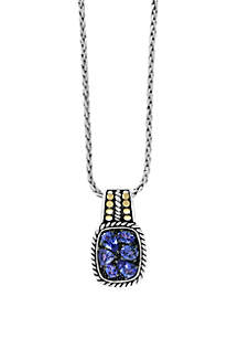 Effy® 1.85 ct. t.w. Tanzanite Pendant in 925 Sterling Silver/18k Yellow Gold