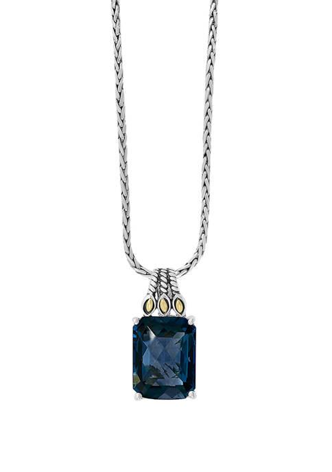 Effy® 12.1 ct. t.w. London Blue Topaz Necklace