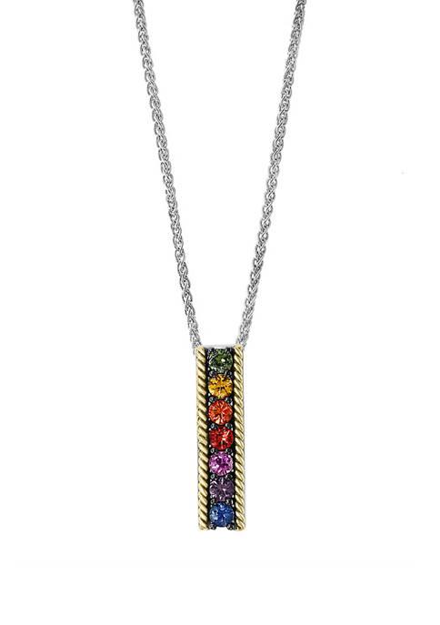 Effy® 5/8 ct. t.w. Multi Sapphire Pendant Necklace