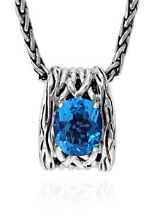 Topaz Pendant Necklace in Sterling Silver