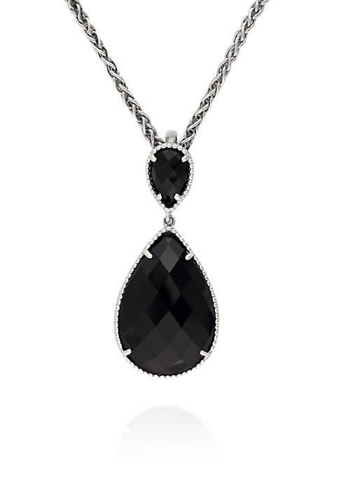 Effy® Onyx Pendant in Sterling Silver
