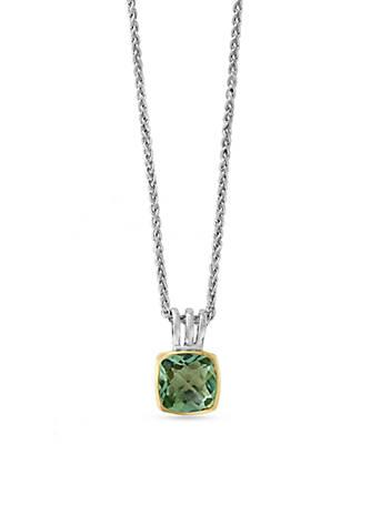 Effy sterling silver green amethyst pendant necklace belk effy sterling silver green amethyst pendant necklace aloadofball Images