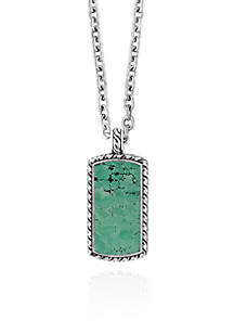 Turquoise Pendant Necklace in Sterling Silver
