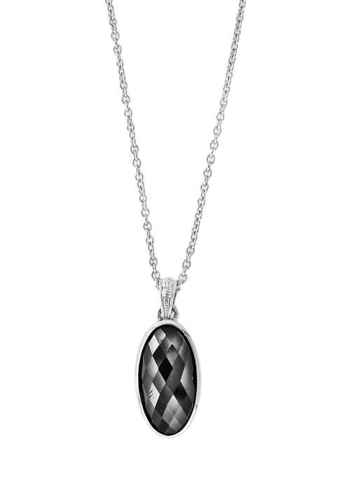 Effy® 1/10 ct. t.w. Hematite Necklace in Sterling