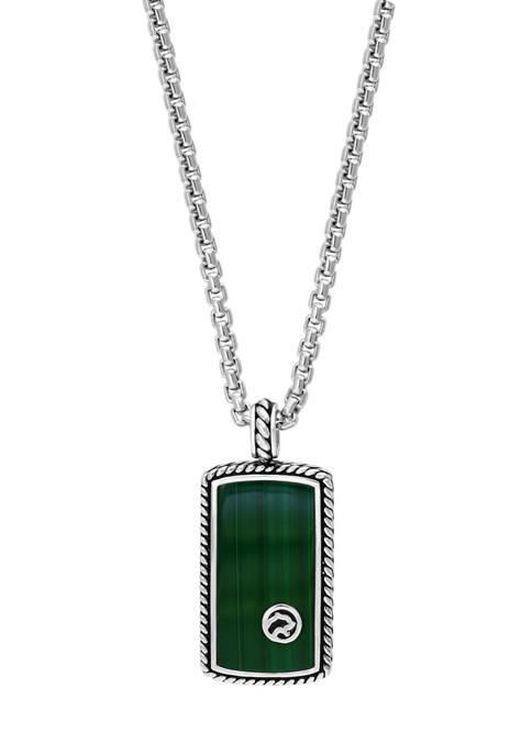 Effy® 9.3 ct. t.w. Malachite Pendant Necklace in