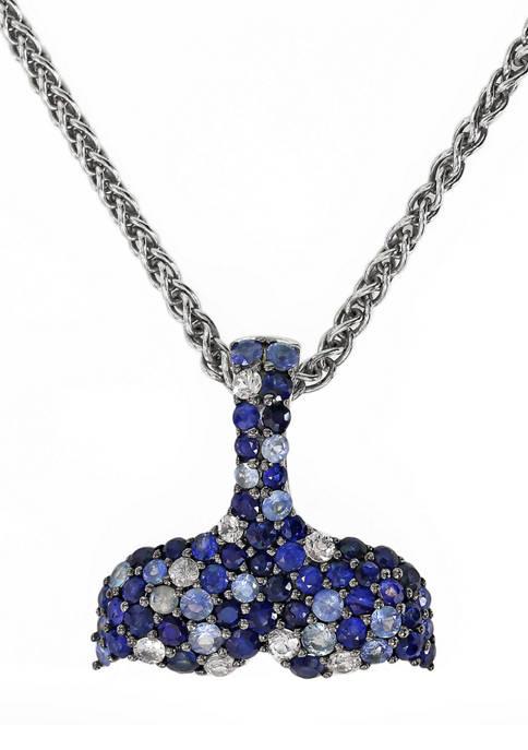 Effy® 2.05 ct. t.w. Multi Sapphire Pendant Necklace