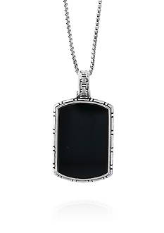 Effy® Onyx Pendant Necklace in Sterling Silver