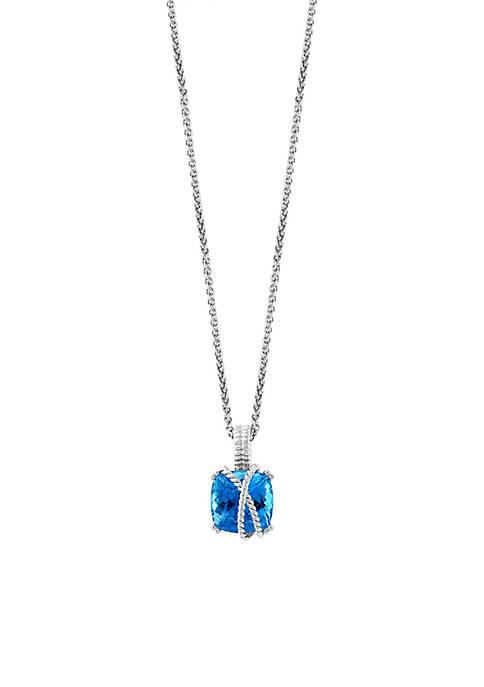 Effy® 6.00 ct. t.w. Blue Topaz Pendant Necklace