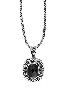Effy® Onyx Sterling Silver Pendant Necklace