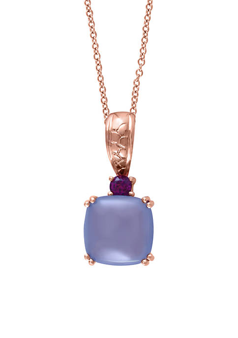 Effy® 14K Rose Gold Chalcedony And Rhodolite Pendant
