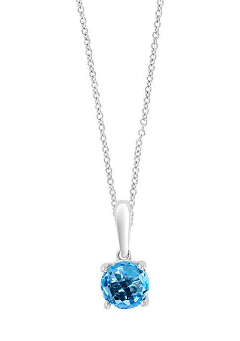 Effy® 1 ct. t.w. Blue Topaz Pendant Necklace