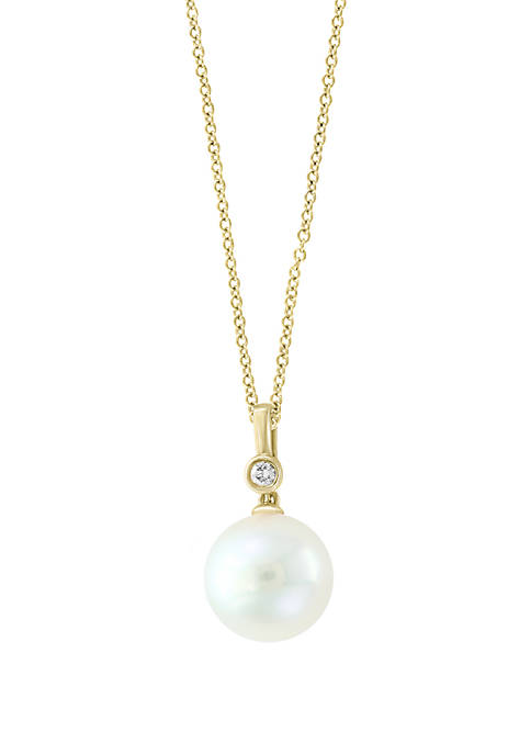 Effy® 14k Yellow Gold Freshwater Pearl Pendant Necklace