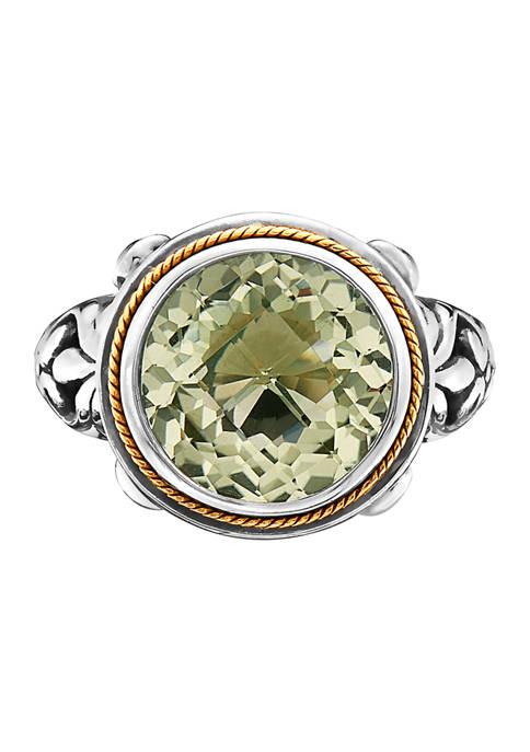 Effy® 5.4 ct. t.w. Green Amethyst Ring in