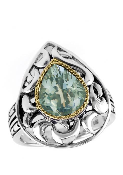 Effy® 2.75 ct. t.w. Green Amethyst Ring in