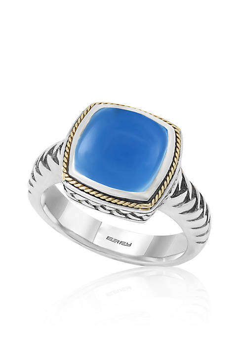 Effy® Square Chalcedony Ring in Sterling Silver