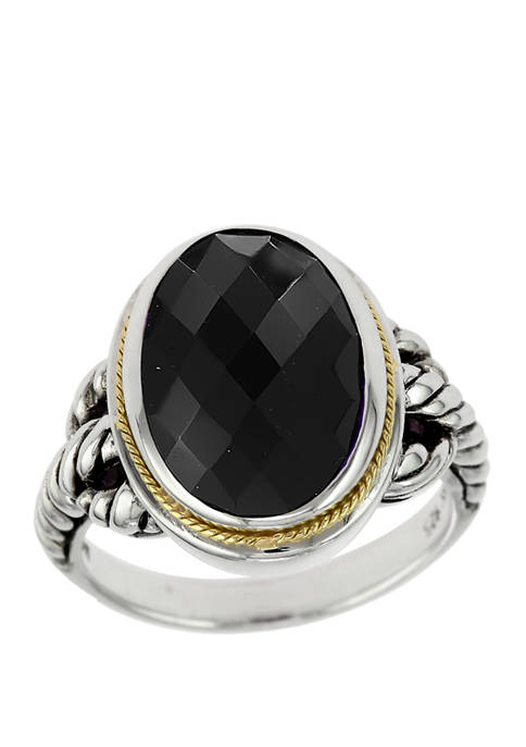 Effy® 5.7 ct. t.w. Onyx Ring in Sterling