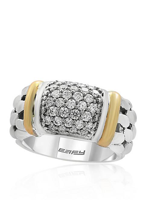 Effy® 0.53 ct. t.w. Diamond Ring in Sterling
