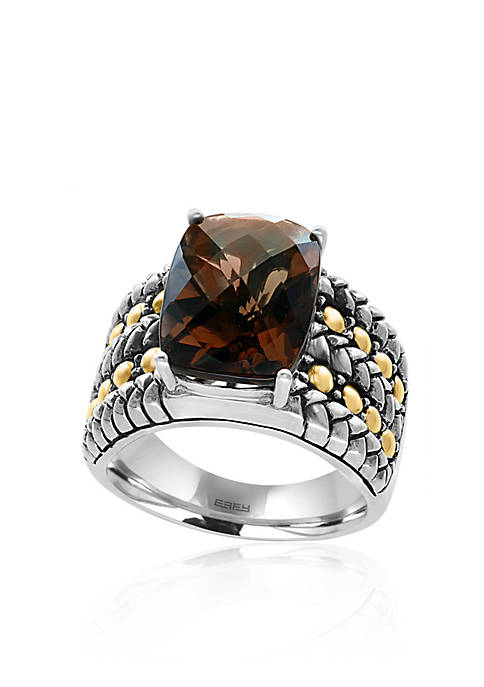 Effy® Smoky Quartz Ring in Sterling Silver and