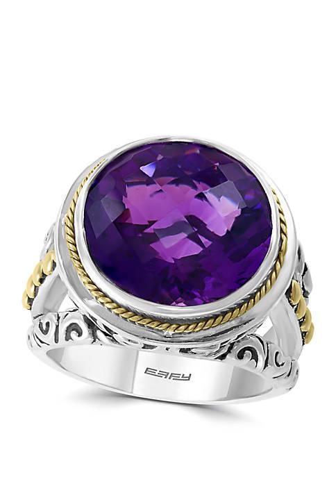 Effy® 7.9 ct. t.w. Amethyst Ring in 925