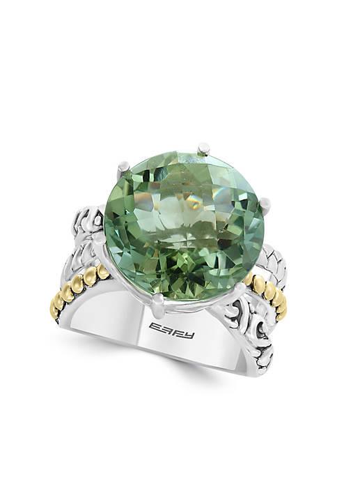 Effy® 10.90 ct. t.w. Green Amethyst Ring in