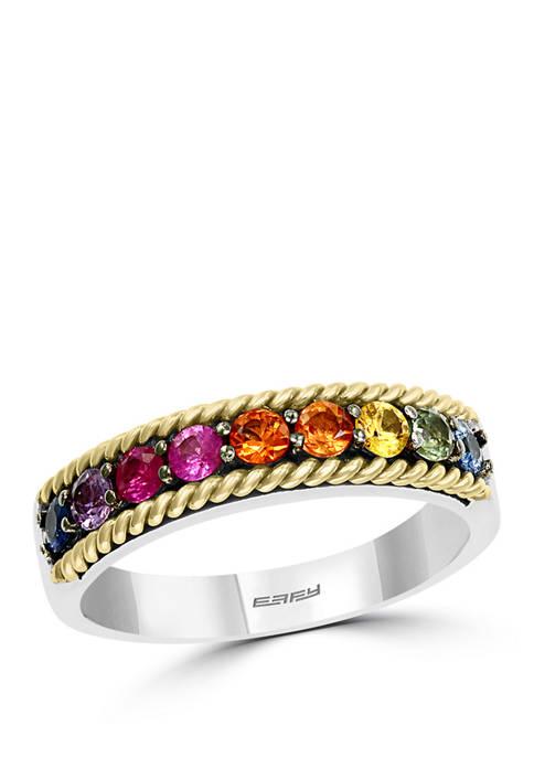Effy® 3/4 ct. t.w. Multi Sapphire Ring in
